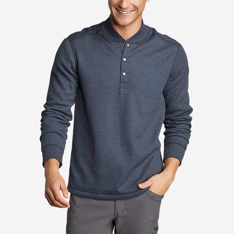 Men's Sherpa-Lined Thermal Henley large version