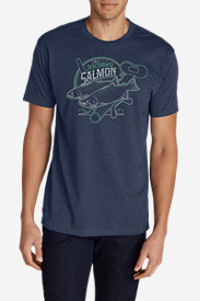 Men's Graphic T-Shirt - Salmon Reel