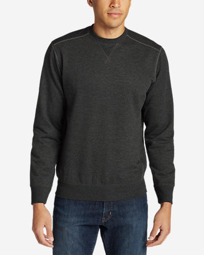 Men's Camp Fleece Crew Sweatshirt The classic crewneck sweatshirt, in cotton/polyester that has an ultrasoft, brushed interior for superior comfort, and rib-knit cuffs and hem for shape retention.