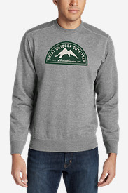 Men's Camp Fleece Graphic Crew - Eddie Bauer Great Outdoor Outfitters