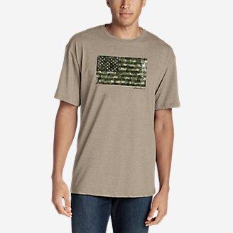 Thumbnail View 1 - Men's Graphic T-Shirt - Camo Flag