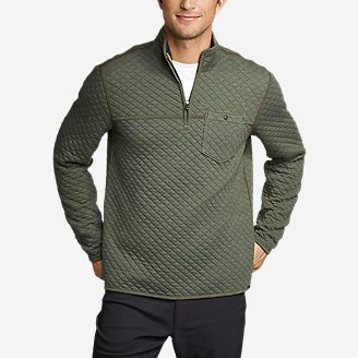 Thumbnail View 1 - Men's Fortify Quilted 1/4-Zip