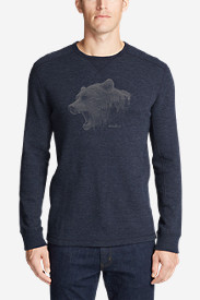 Men's Graphic Thermal Crew - Growling Bear