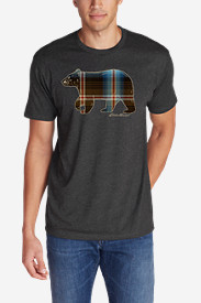 Men's Graphic T-Shirt - Plaid Bear