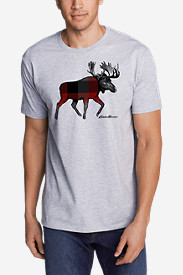 Men's Graphic T-Shirt - Plaid Moose
