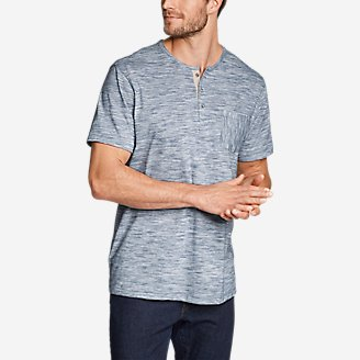 Thumbnail View 1 - Men's Legend Wash Pro Short-Sleeve Henley - Space Dye
