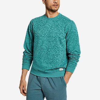 Thumbnail View 1 - Men's Camp Fleece Crew Sweatshirt - Print