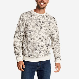Thumbnail View 1 - Men's Camp Fleece Crew Sweatshirt - Print