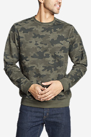 Men's Camp Fleece Crew Sweatshirt - Print