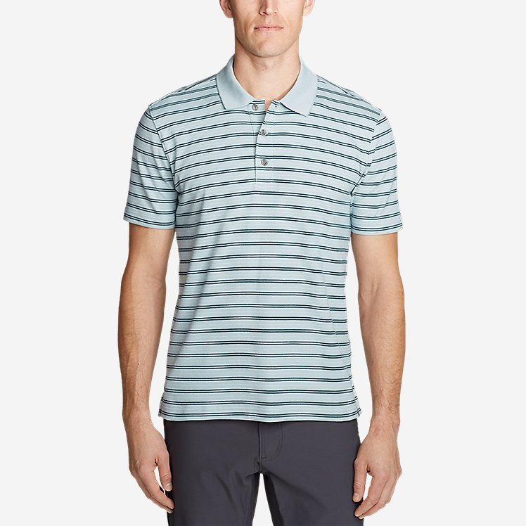 Men's Voyager 2.0 Short-Sleeve Polo Shirt - Stripe large version