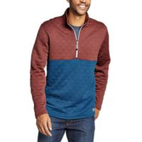 Deals on Eddie Bauer Mens Expedition Quilted 1/2-Zip Pullover