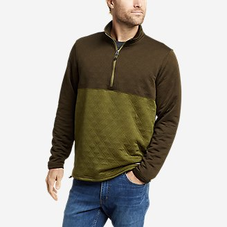 Thumbnail View 1 - Men's Eddie Bauer Expedition Quilted 1/2-Zip