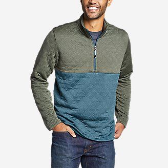 Eddie Bauer Mens Pullover Sweatshirt 1//4 Zip Big