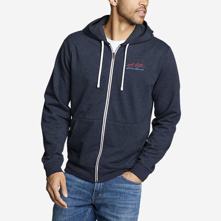 Men's Camp Fleece Graphic Full-Zip Hoodie large version