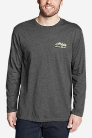 Men's Graphic Long-Sleeve T-Shirt - Forest Script