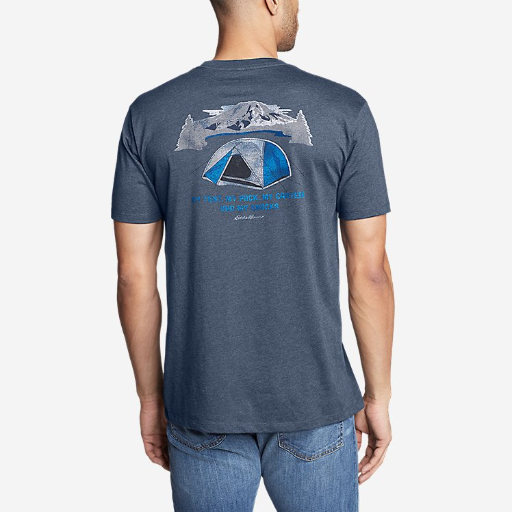 Men's Graphic T-Shirt - My Tent My Snacks large version