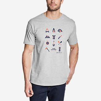 Thumbnail View 1 - Men's Graphic T-Shirt - Camp Icon