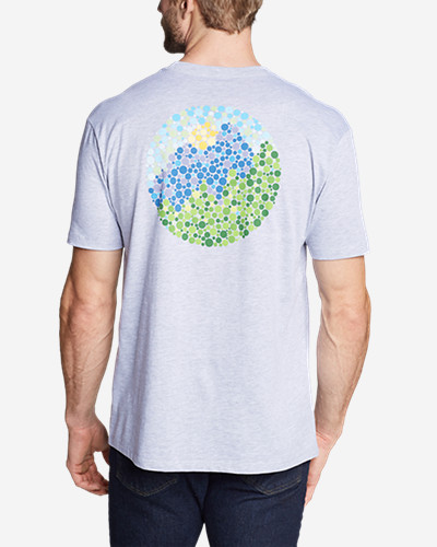 Men's Graphic T-Shirt - Optic Mountain Our graphic T-shirts raise the bar on comfort and quality. Sporting exclusive screenprint images, each shirt is purposely developed using a soft, lighter weight cotton/polyester. The cool, comfortable fabric resists shrinkage, won't twist out of shape after washing, and holds its color, even through regular use.