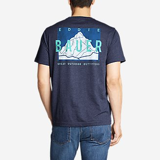 Thumbnail View 1 - Men's Graphic T-Shirt - Peak and Valley