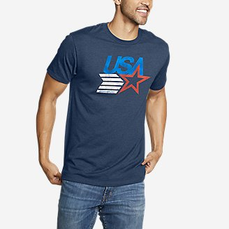 Thumbnail View 1 - Men's Graphic T-Shirt - USA Star