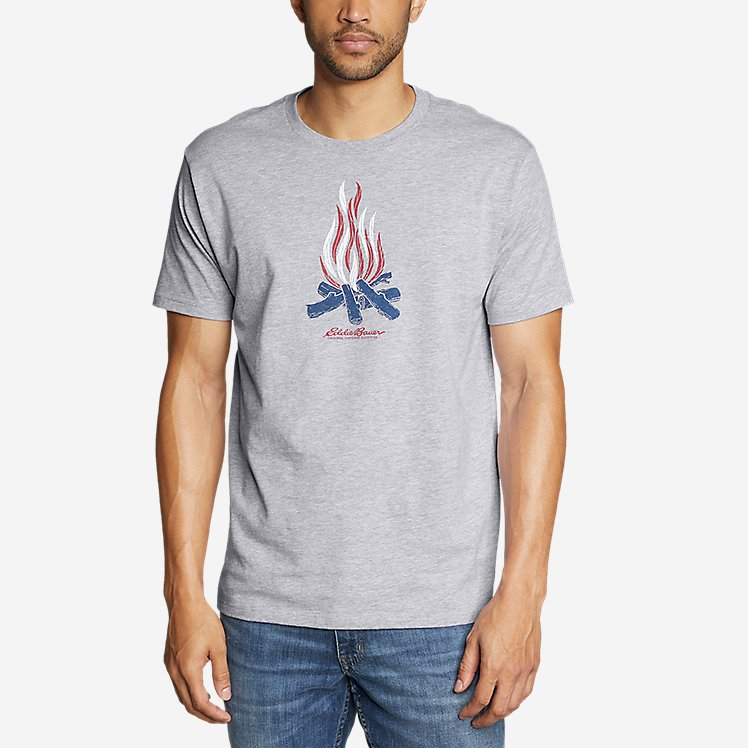 Men's Graphic T-Shirt - Patriot Flame large version