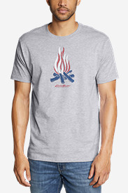 Men's Graphic T-Shirt - Patriot Flame