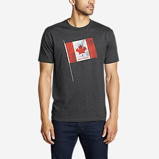 Thumbnail View 1 - Men's Graphic T-Shirt - Canada Flag Pole