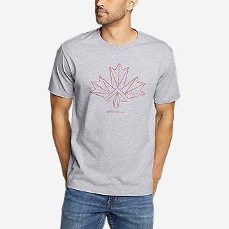 Thumbnail View 1 - Men's Graphic T-Shirt - Canada Vector Leaf