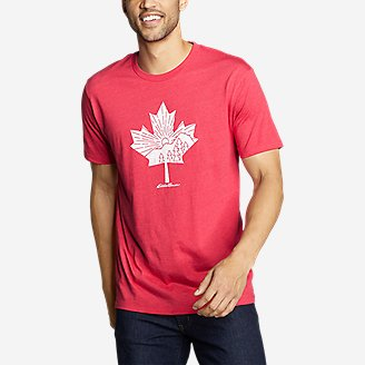 Thumbnail View 1 - Men's Graphic T-Shirt - Canada Leafscape