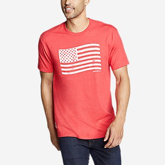 Thumbnail View 1 - Men's Graphic T-Shirt - Flag Stamp