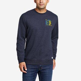 Thumbnail View 1 - Men's Camp Fleece Graphic Crew Sweatshirt - Camo Logo