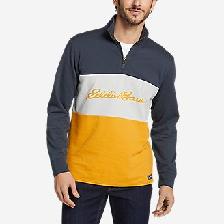 Thumbnail View 1 - Men's Camp Fleece 1/4-Zip - Color Block