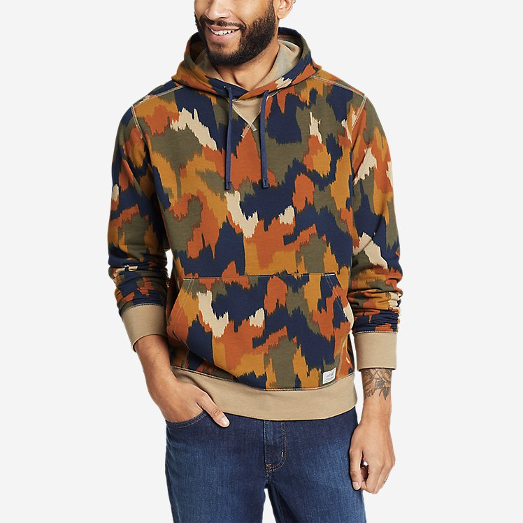Men's Camp Fleece Pullover Hoodie - Pattern large version