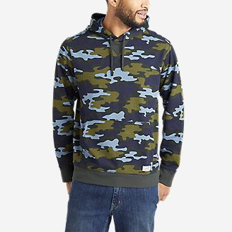 Thumbnail View 1 - Men's Camp Fleece Pullover Hoodie - Pattern