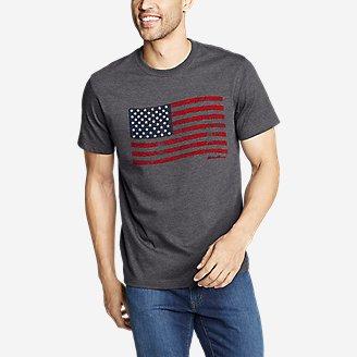 Thumbnail View 1 - Men's Graphic T-Shirt - US Flag