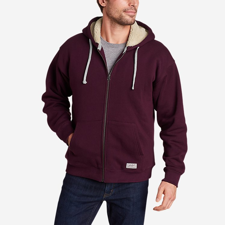 Men's Signature Sherpa-Lined Full-Zip Hoodie large version