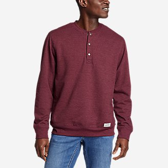 Thumbnail View 1 - Men's Camp Fleece Sherpa-Lined Henley