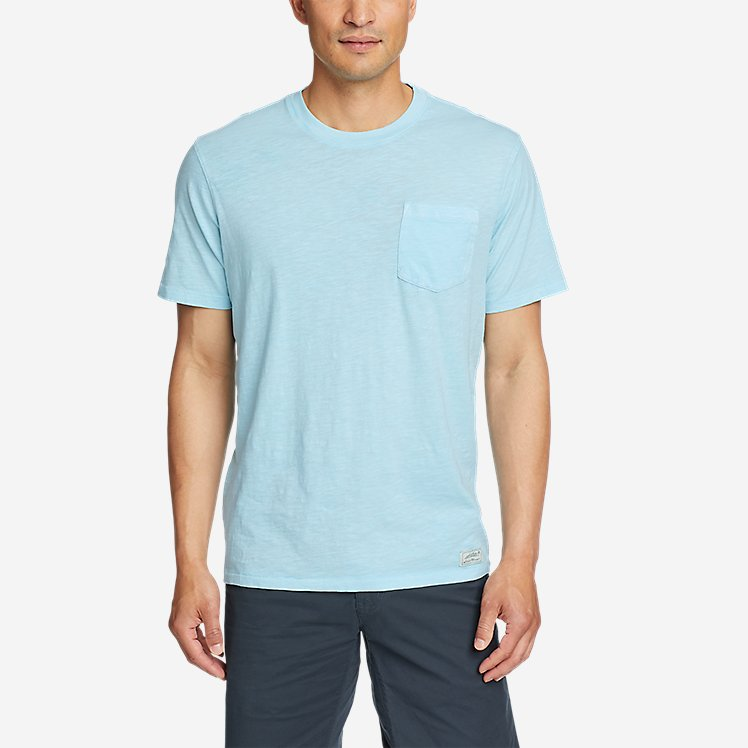Men's Earth Wash Slub Short-Sleeve Pocket T-Shirt large version