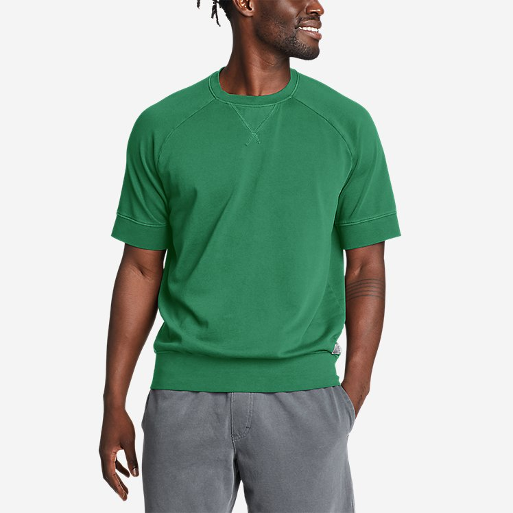 Men's Camp Fleece Riverwash Short-Sleeve Crew Sweatshirt large version