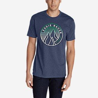 Thumbnail View 1 - Men's Graphic T-Shirt - Gradient Peaks