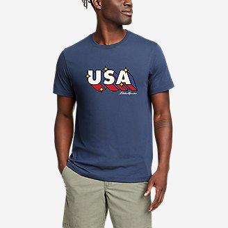 Thumbnail View 1 - Men's Graphic T-Shirt - Retro USA