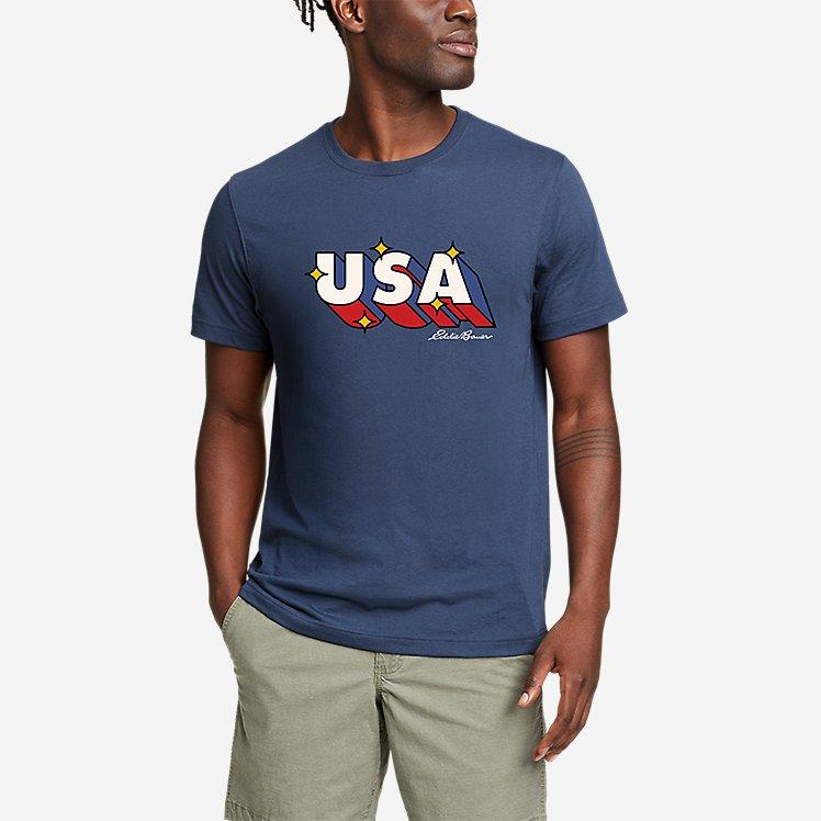 Men's Graphic T-Shirt - Retro USA large version