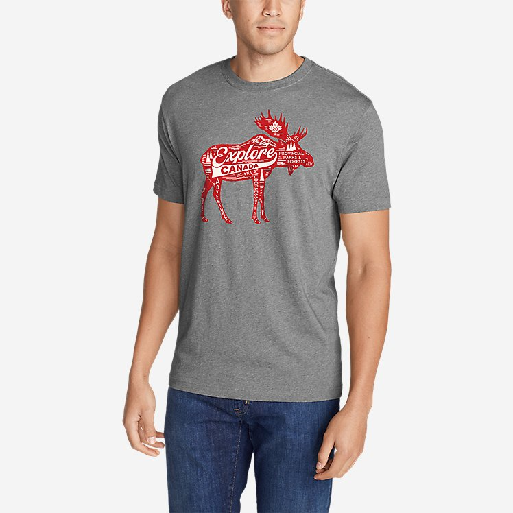 Men's Graphic T-Shirt - Moose Explorer large version