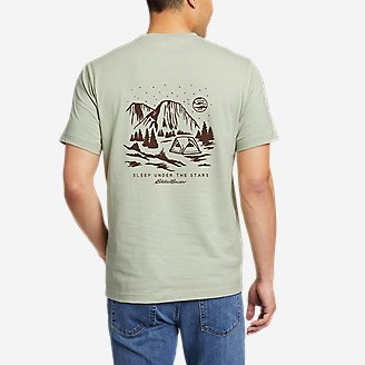 Thumbnail View 1 - Men's Graphic T-Shirt - Camp Under The Stars