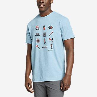Thumbnail View 1 - Men's Graphic T-Shirt - Camp Icon