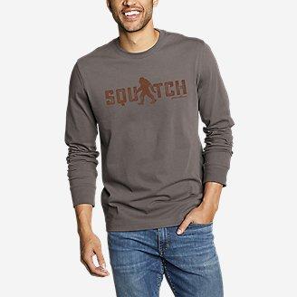 Thumbnail View 1 - Men's Graphic Long-Sleeve T-Shirt - Squatch