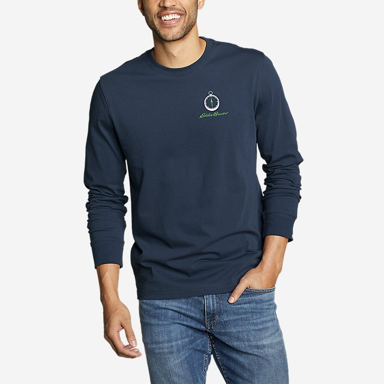 Men's Graphic Long-Sleeve T-Shirt - Compassed large version