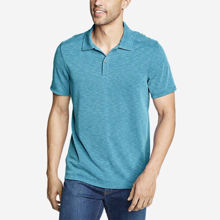 Men's Contour Performance Slub Polo Shirt large version