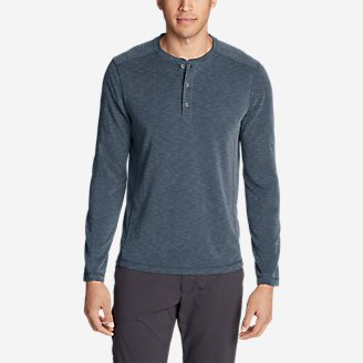Thumbnail View 1 - Men's Contour Long-Sleeve Henley Shirt
