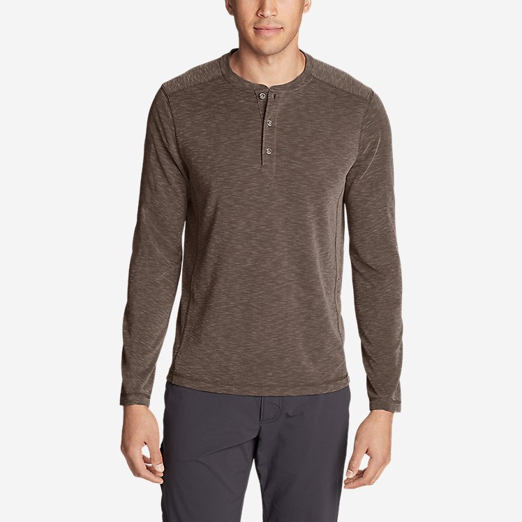 Men's Contour Long-Sleeve Henley Shirt large version